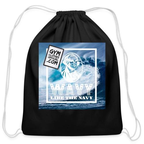 Wavy - Cotton Drawstring Bag