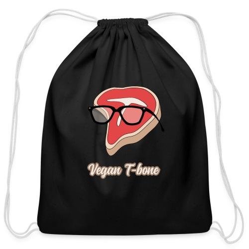 Vegan T bone - Cotton Drawstring Bag