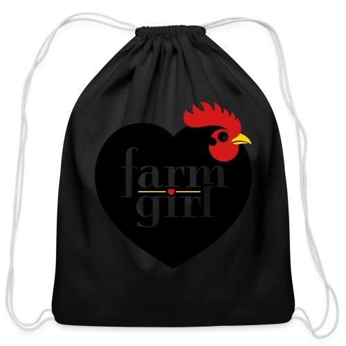 Farm girl - Cotton Drawstring Bag