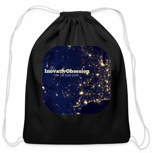 "InovativObsesion ""TURN ON YOU LIGHT"" Apparel - Cotton Drawstring Bag"
