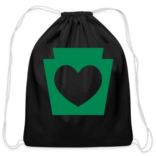 Love/Heart PA Keystone - Cotton Drawstring Bag
