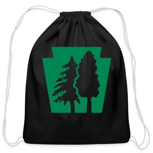 PA Keystone w/trees - Cotton Drawstring Bag