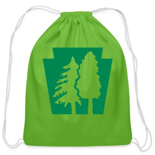 PA Keystone w/trees - Cotton Drawstring Bag