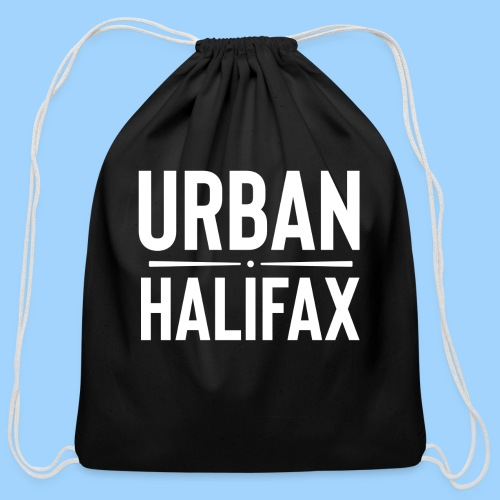 Urban Halifax logo (White) - Cotton Drawstring Bag