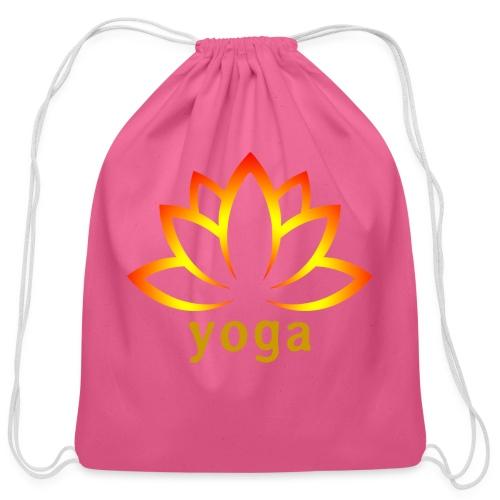 yoga lotus - Cotton Drawstring Bag
