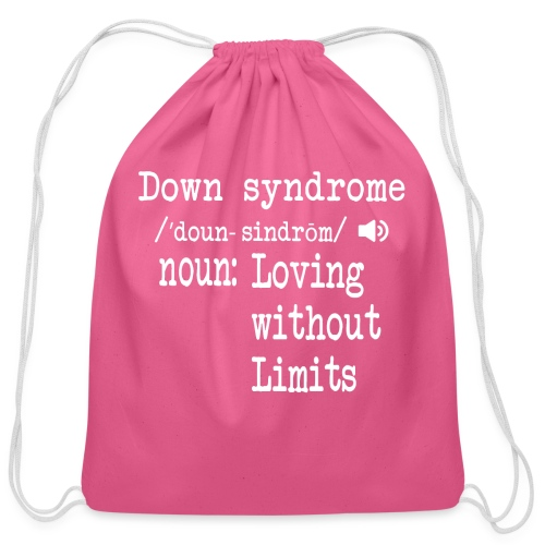 Down syndrome Definition - Cotton Drawstring Bag