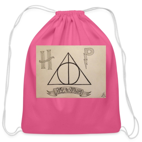 Deathly Hallows - Cotton Drawstring Bag