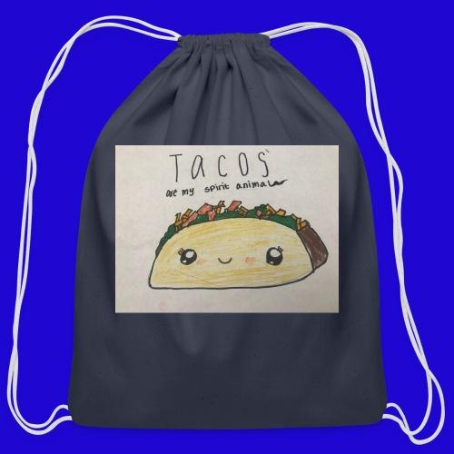 Tacos are my Spirit Animal - Cotton Drawstring Bag