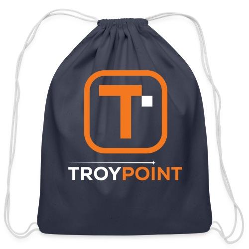 TROYPOINT Orange Logo - Cotton Drawstring Bag