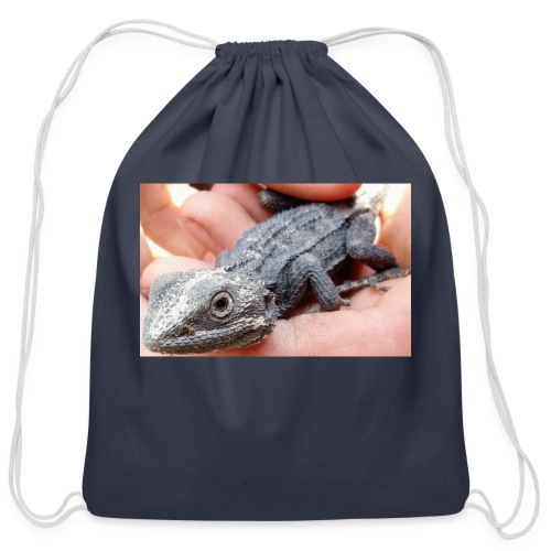 Australian lizard - Cotton Drawstring Bag