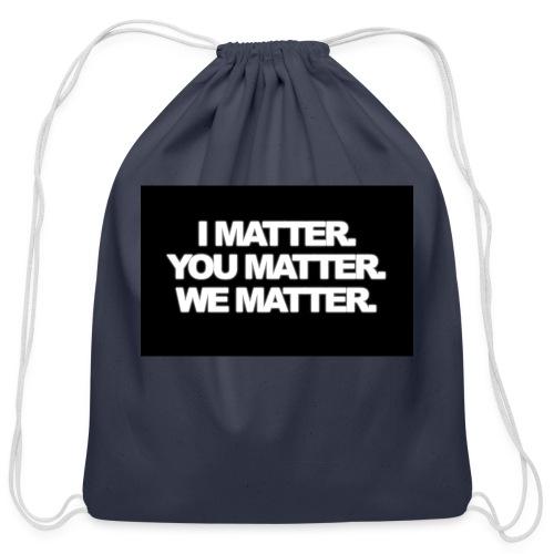 We matter - Cotton Drawstring Bag