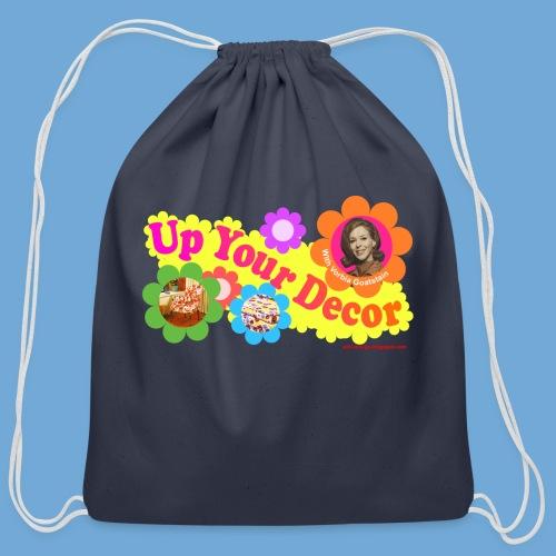 Up Your Decor logo. - Cotton Drawstring Bag