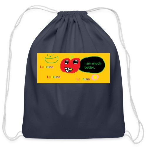 pechy vs apple - Cotton Drawstring Bag