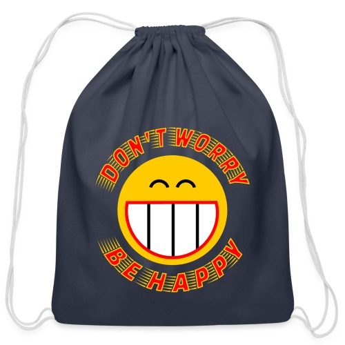 Be Happy - Cotton Drawstring Bag