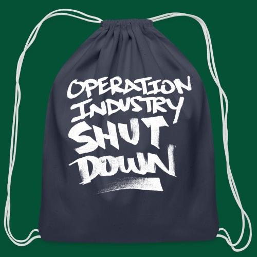 O.I.S.D. Original Logo(White) - Cotton Drawstring Bag