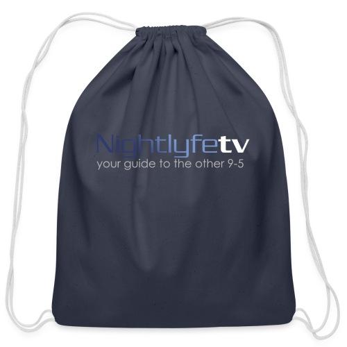 NTV Logo Full - Cotton Drawstring Bag
