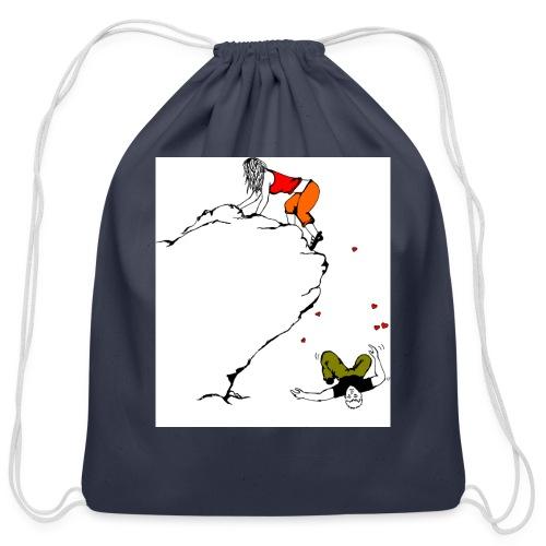 Lady Climber - Cotton Drawstring Bag