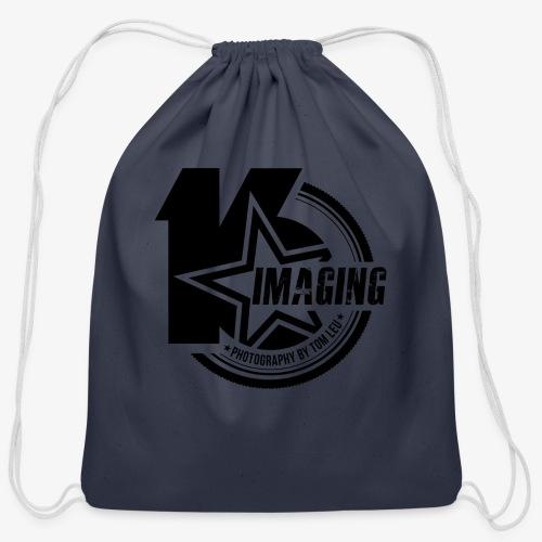 16 Badge Black - Cotton Drawstring Bag