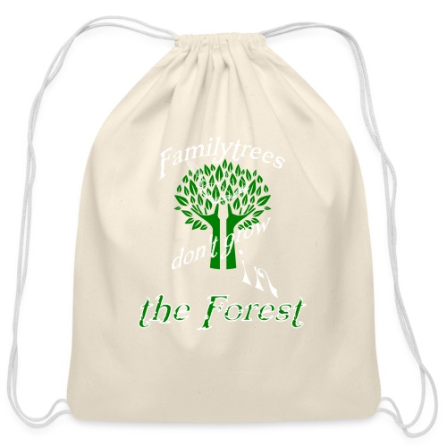 genealogy family tree forest funny birthday gift - Cotton Drawstring Bag
