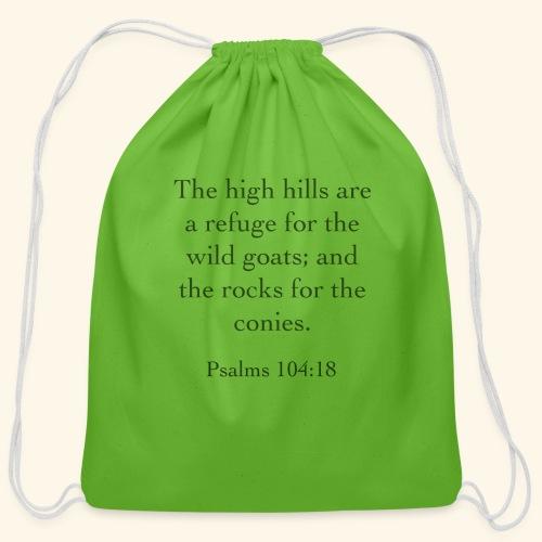 High Hills KJV - Cotton Drawstring Bag
