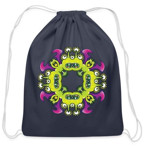Three-eyed dragon going through odd metamorphosis - Cotton Drawstring Bag