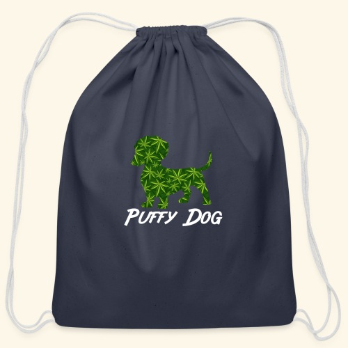 PUFFY DOG - PRESENT FOR SMOKING DOGLOVER - Cotton Drawstring Bag