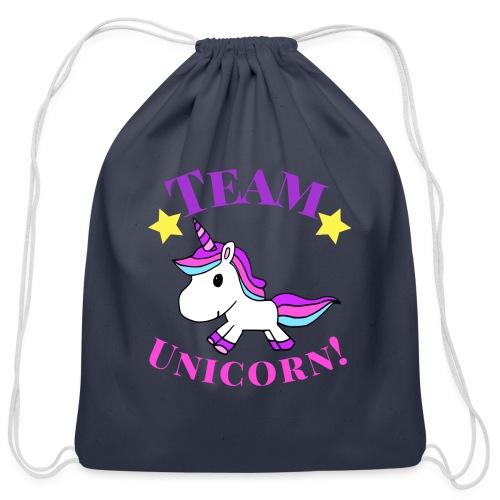 Team Unicorn! - Cotton Drawstring Bag
