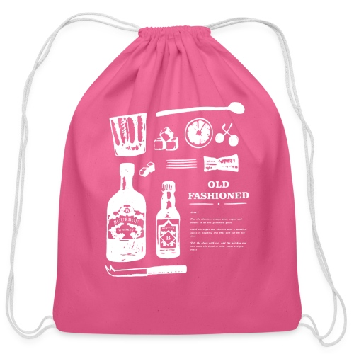 Old Fashioned - Cotton Drawstring Bag