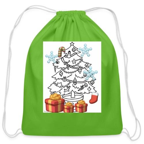 Christmas is here!! - Cotton Drawstring Bag