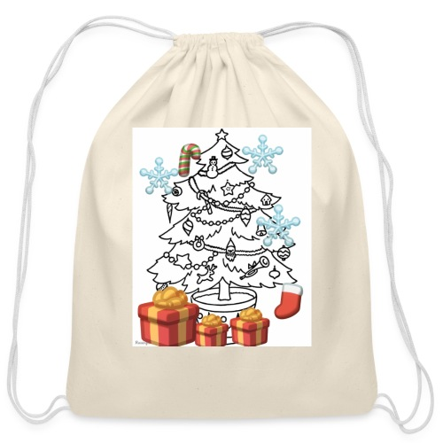 Christmas is here!! - Cotton Drawstring Bag