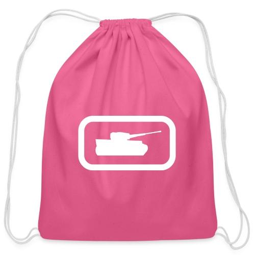 Tank Logo (White) - Axis & Allies - Cotton Drawstring Bag