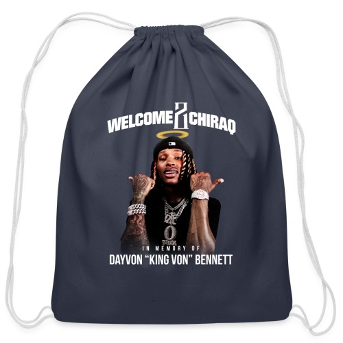 "In Memory Of ""King Von"" - Cotton Drawstring Bag"
