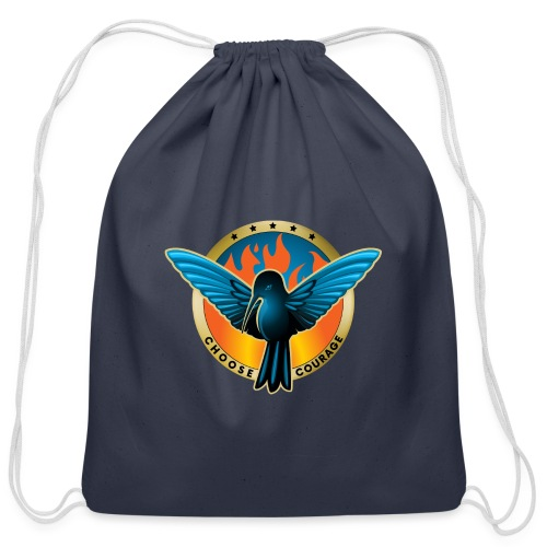 Choose Courage - Fireblue Rebels - Cotton Drawstring Bag