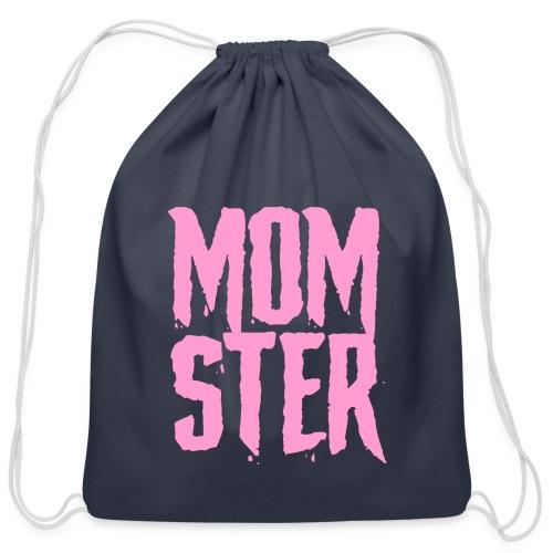 mother mom monster - Cotton Drawstring Bag