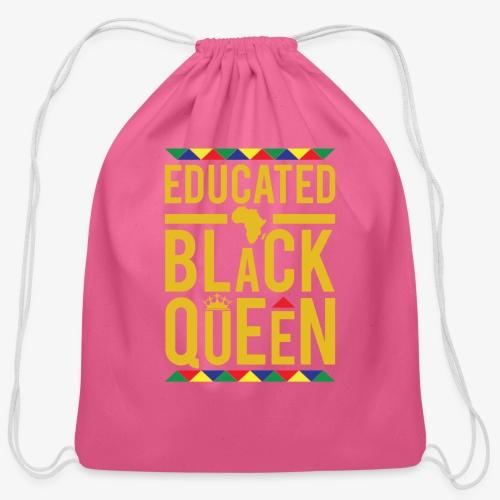 Educated Black Queen - Cotton Drawstring Bag