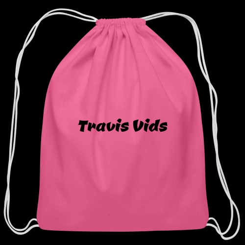 White shirt - Cotton Drawstring Bag