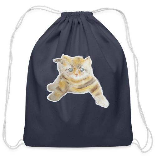 sad boy - Cotton Drawstring Bag