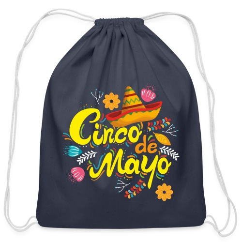 cinco mayo viva mexico - Cotton Drawstring Bag