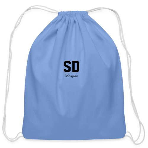 SD Designs blue, white, red/black merch - Cotton Drawstring Bag