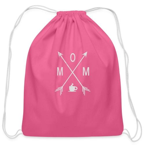 Mom Loves Coffee - Cotton Drawstring Bag