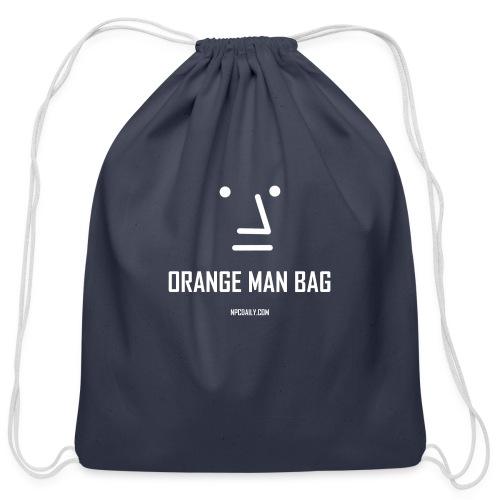orange man bag - Cotton Drawstring Bag