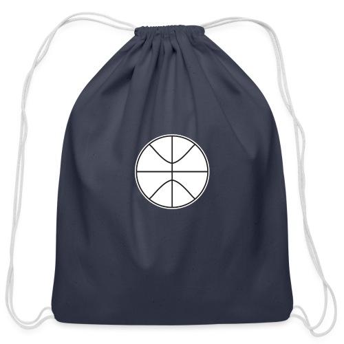 Basketball black and white - Cotton Drawstring Bag
