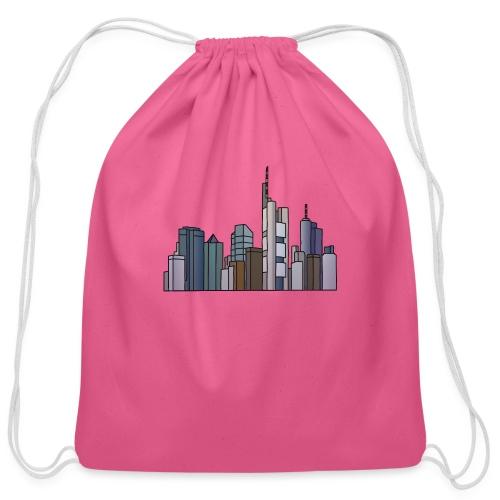 Frankfurt skyline - Cotton Drawstring Bag