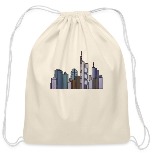 Frankfurt skyline - Cotton Drawstring Bag