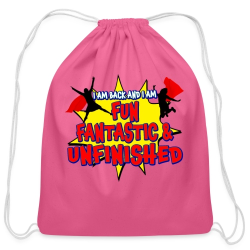Unfinished girls jumping - Cotton Drawstring Bag
