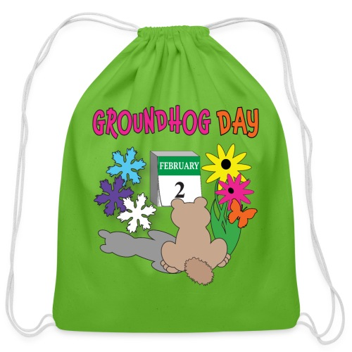 Groundhog Day Dilemma - Cotton Drawstring Bag