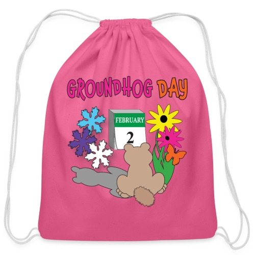 Groundhog Day Dilemma - Cotton Drawstring Bag