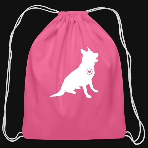 German Shepherd love - Cotton Drawstring Bag