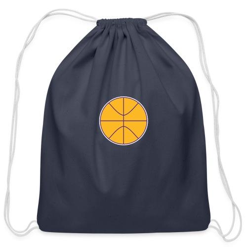 Basketball purple and gold - Cotton Drawstring Bag