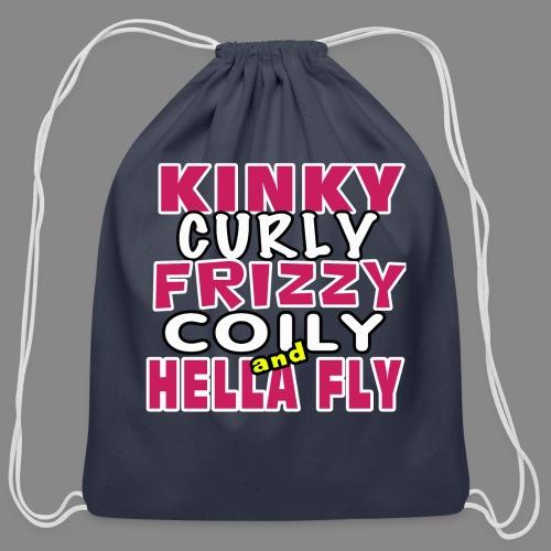 Kinky Curly Frizzy - Cotton Drawstring Bag